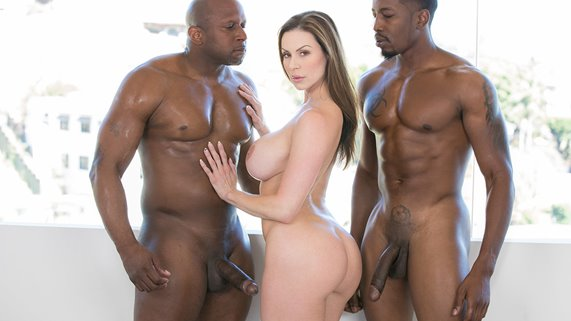 Beautiful woman Kendra Lust with big boobs takes two BBC