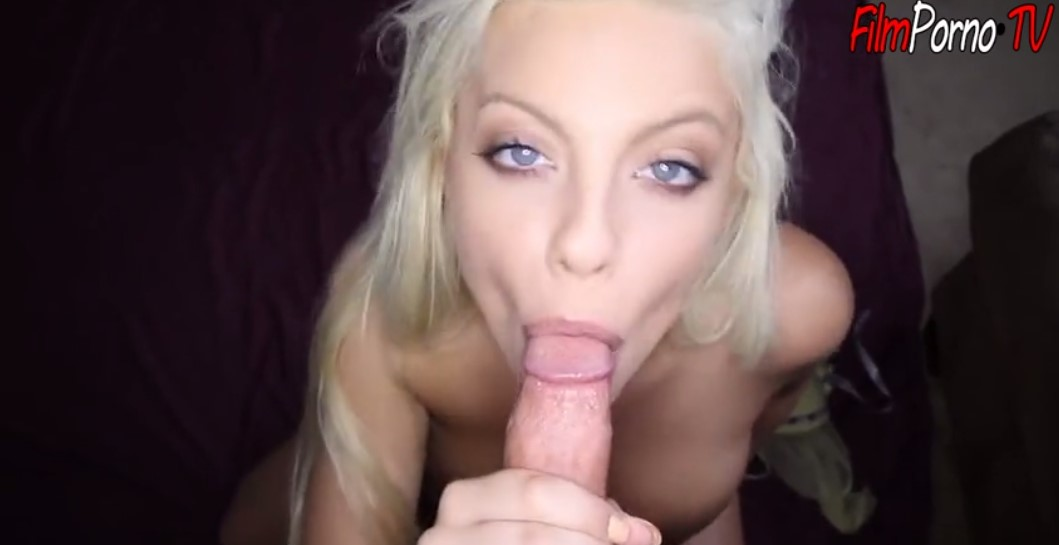 Beautiful blonde colored eyes Britney Amber Pussy fuck & cum on mouth
