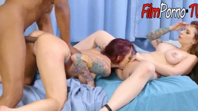 Nigga doctor bitch nurse & patient fucked hard together by BBC