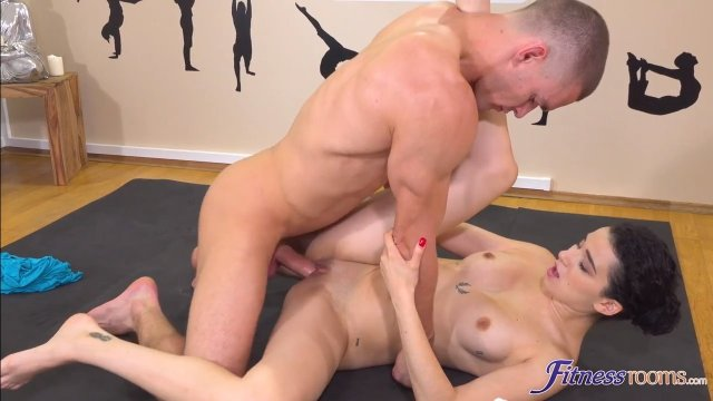 Perverted yoga instructor fucked his young spanish student